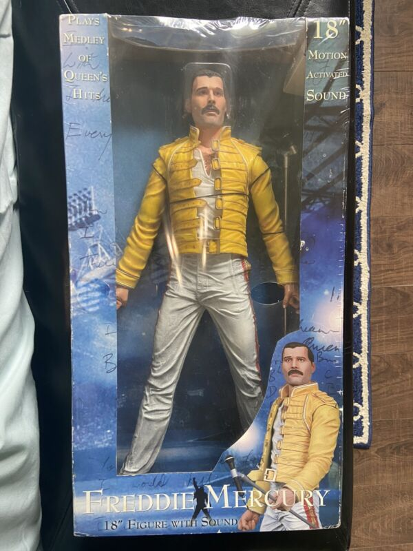 "Freddie Mercury 18"" Wembley Action Figure NECA New In Box"
