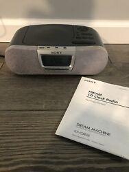 Sony Dream Machine ICF-CD830 CD AM/FM Alarm Clock Radio With Manual