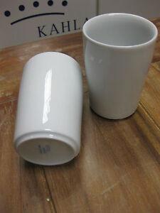 6 Stück Becher Kahla FIVE SENSES Porzellan Kaffeebecher 0,35 l OHNE Henkel weiß