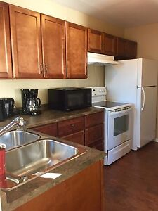 In stephenville a three bedroom apartment fully furnished