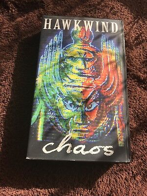 Hawkwind Live Preston England 1986 Chaos Tour VHS Brock Cherry Red Magnu