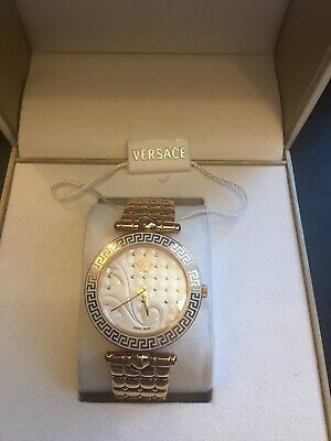 Versace VQM060015 Women's MICRO VANITAS Gold-Tone Quartz Watch