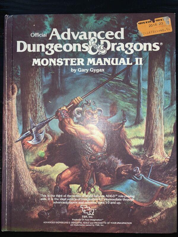 AD&D: 1E - Monster Manual II - TSR 2016 - 1st Print