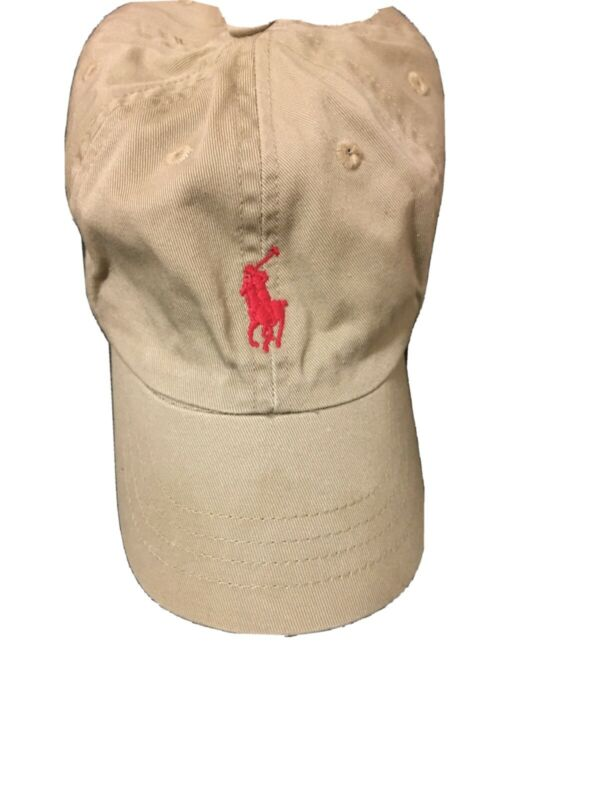 Polo Ralph Lauren Toddler Baby Boy Cotton Baseball Hat Cap Red Logo