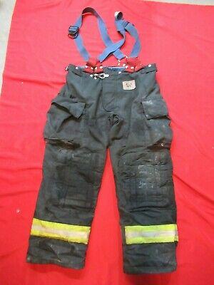 Morning Pride Fire Fighter Turnout Pants 40 X 32 Black Bunker Gear Suspenders