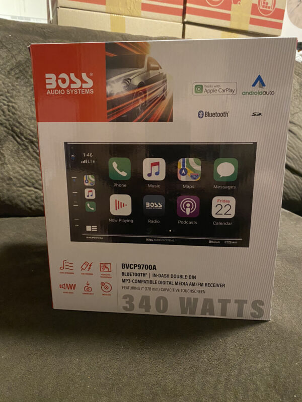 """BOSS BVCP9700A 2DIN 7"""" Car Mechless Stereo Apple Carplay Android Auto Bluetooth"""