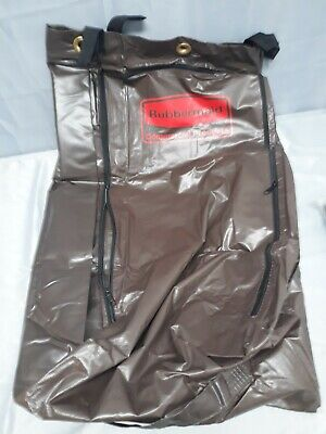 Rubbermaid Vinyl Replacement Bag Brown For Maid Cart Zippered Housekeeping Hotel