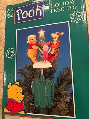 Christmas Tree Topper MR Winnie The POOH HOLIDAY TREE TOP Tigger Disney Electric