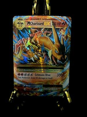 Mega M Charizard EX 13/108 XY Evolutions Ultra Rare Pokemon Card Extreme Miscut