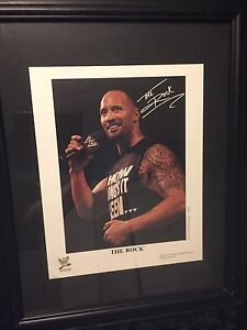 2004- The Rock picture framed