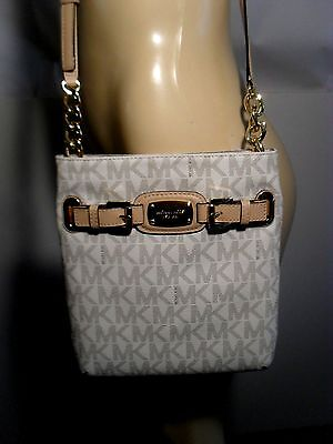 NWT Michael Kors Hamilton Vanilla Signature Crossbody PVC Bag Handbag Purse