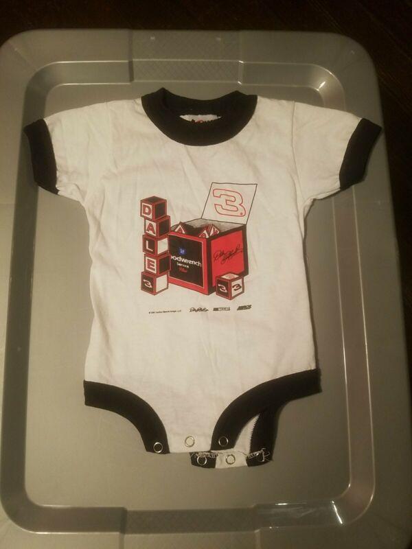 Vintage 2001 Nascar Dale Earnhardt Toddler Baby Infant One piece Shirt 18 months