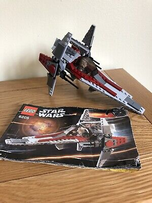 COMPLETE LEGO STAR WARS SET 6205 - V-WING FIGHTER WITH INSTRUCTIONS