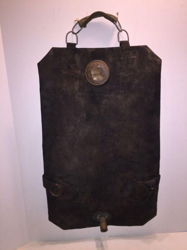 Vintage Hudson 152262 Rubber Fire Fighting Back Pack Bag Extinguisher