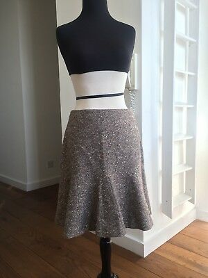 NEW Alexander McQueen Vintage AW 2004 Brown Tweed Skater Skirt IT 44