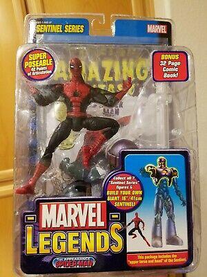 Marvel Legends 1st Appearance Spider-Man Toy Biz Sentinel Series BAF Wave 2005