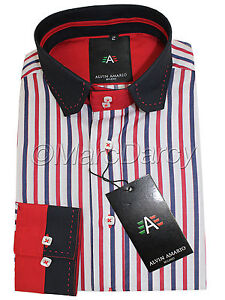 Mens Designer Multi Coloured Striped Smart Casual Formal Stage Party Wear Shirts