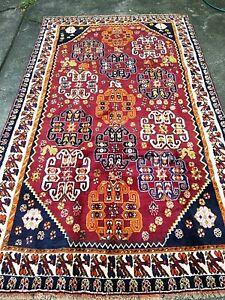 Persian handmade soft wool Shiraz rug