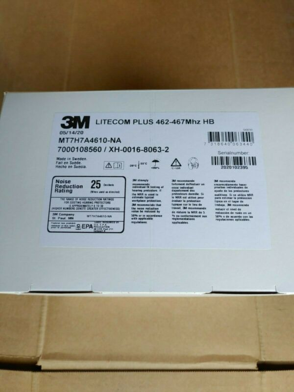 3M™ PELTOR™ LiteCom Plus 2-Way Radio Headset, MT7H7A4610-NA, NEW