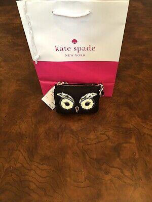 KATE SPADE STAR BRIGHT OWL MINI NATASHA WALLET / COIN PURSE / KEY CHAIN NWT $129
