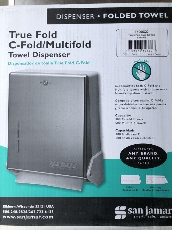 San Jamar True Fold C-Fold / Multifold Paper Towel Dispenser Chrome