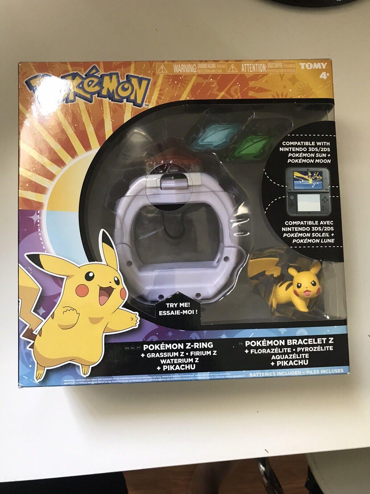TOMY Pokémon Z-Ring 9 Crystal Set Works w/ Pokémon Sun & M