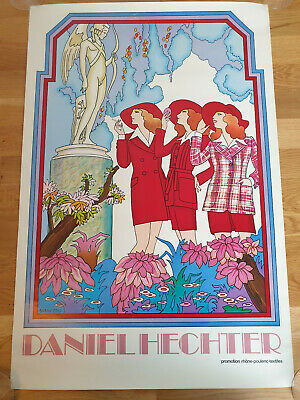 Barry Zaid Poster Daniel Hechter Promotion 1970 Original Vintage Graphic Art