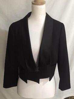 Atmosphere Black Cropped Jacket Size 16