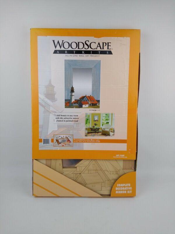 Woodscape Art Kit #605 Portland Light Pre-assembled Decorative Mirror Nautical