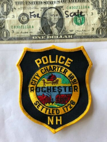 Rochester New Hampshire Police Patch (City Charter) un-sewn in great shape