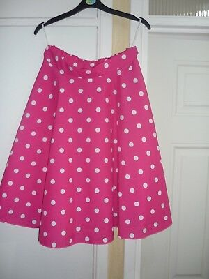 Ladies 1950,s skirt circular pink spot