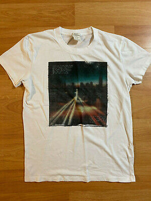 New Abercrombie and Fitch Shirt White/Multicolor Adult Size Small