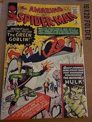 First Green - Amazing Spiderman 14 Cover with Vintage Reprint 1st Green Goblin REPRINT