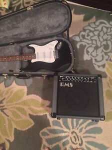 Guitar set. Amp and hardshell case