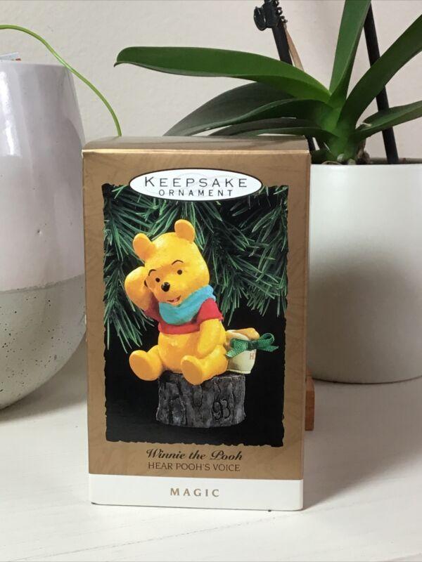 Hallmark Keepsake Winnie the Pooh Hear Poohs Voice Magic 1993 Christmas Ornament