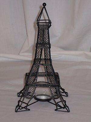 Paris Eiffel Tower Tealight Candle Holder, Made Of Black Metal - Eiffel Tower Candle Holder