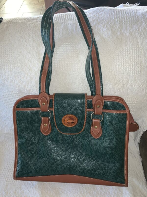 VTG Dooney & Burke All Weather Leather Office Bag