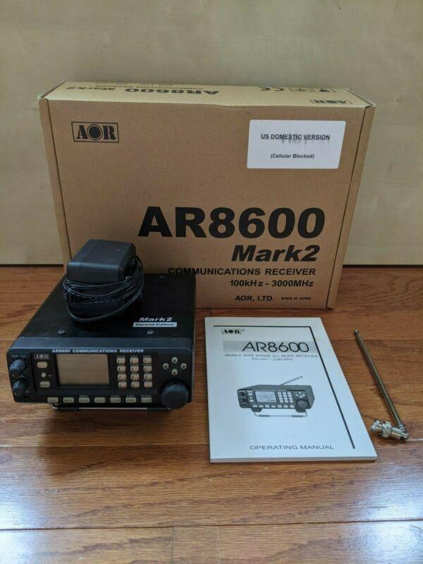 AOR AR8600 MKII Desktop Communications Receiver With Original Box, Manual, etc..