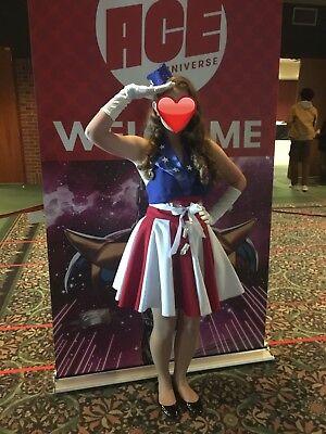 Marvel Captain America USO Girl Cosplay Costume Dress Hat - Captain America Girl Costume