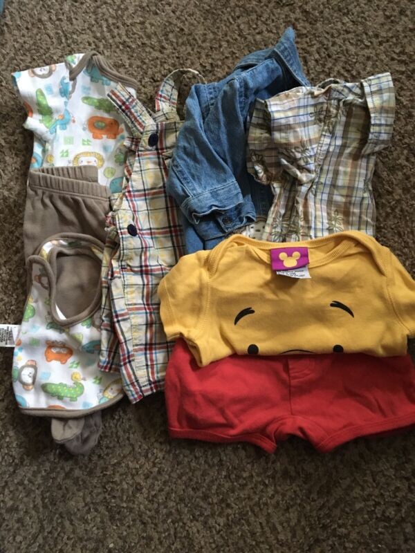 Lot Of 0-3 Month Boys Summer Clothes