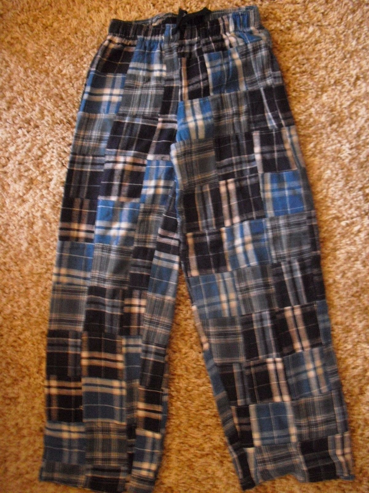 Boxercraft Youth Flannel Pants Blue patchwork size Youth Med
