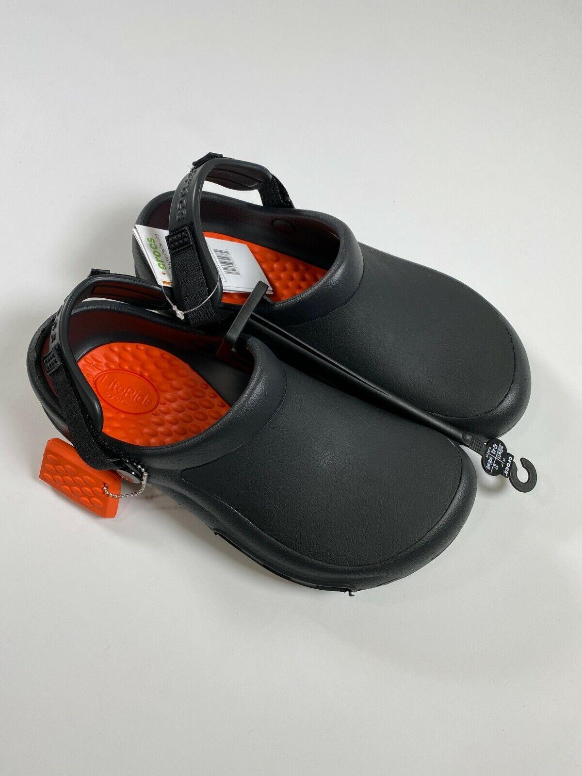 Crocs Unisex Black Roomy Fit Bistro Pro Literide Clog NEW! N