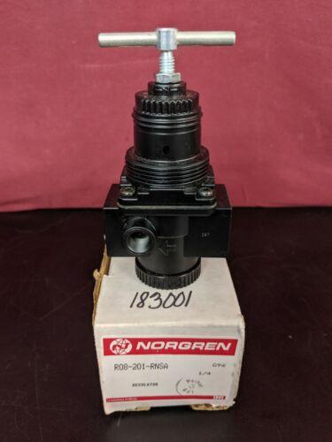 "Norgren R08-201-RNSA  Pressure Regulator T-Bar 1/4"" 300 psi Max In 250 psi Out"
