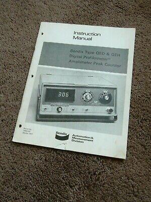 Bendix Qed Qeh 1 2 Digital Profilometer Peak Counter Users Instruction Manual
