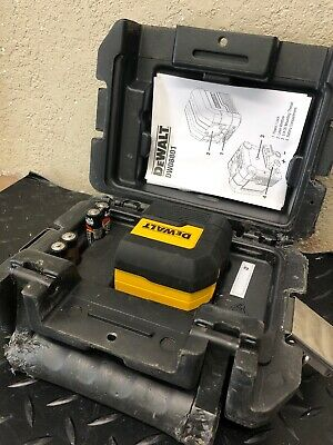 Dewalt Dw08801 50 Ft. Cross Line Laser Level. Red Laser With Case