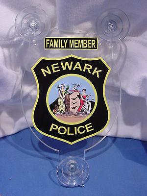 NEWARK NJ  POLICE FAMILY MEMBER CAR SHIELD  PBA FOP