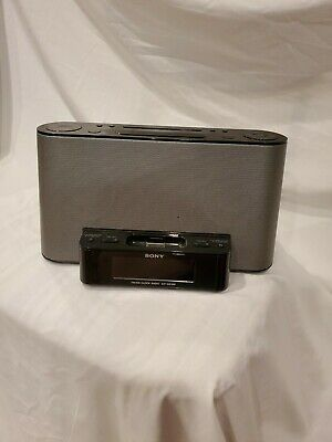 Sony Dream Machine AM/FM Clock Radio 2 Alarm 30 Pin Dock ICF-CS10iP