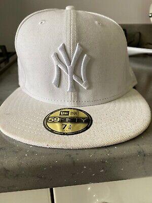White NY New Era 59 Fifty Cap