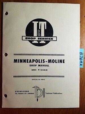 It Minneapolis-moline Gb Ub Zb Tractor Shop Service Manual Mm-6 1955