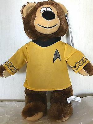 "2013 PLUSH 13"" CAPTAIN KIRK STAR TREK TEDDY BEAR STUFFED ANIMAL TOY WITH TAGS"